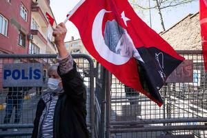 عکس/ تجمع ضد آمریکایی در ترکیه