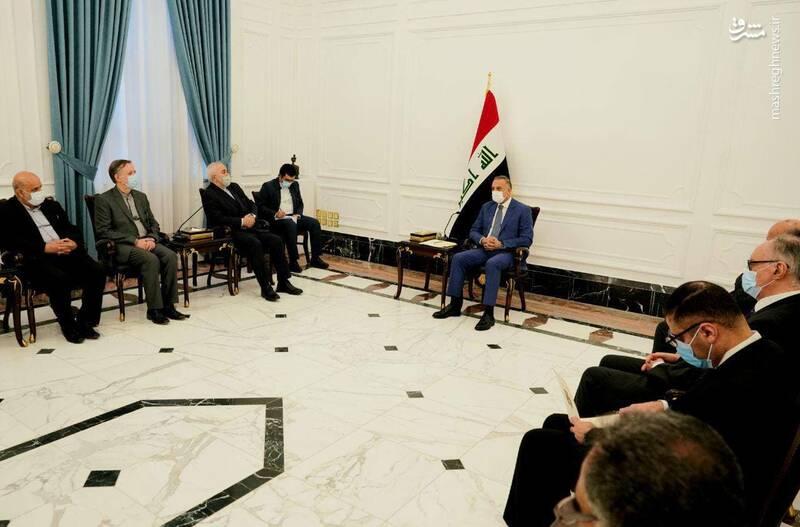 دیدار و گفتگوی محمد جواد ظریف وزیر امور خارجه جمهوری اسلامی ایران و مصطفی الکاظمی نخست وزیر عراق