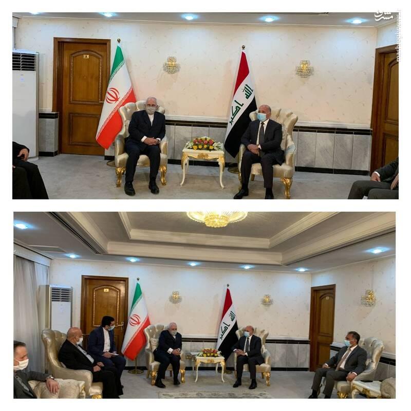 دیدار و گفتگوی وزرای امور خارجه جمهوری اسلامی ایران و جمهوری عراق