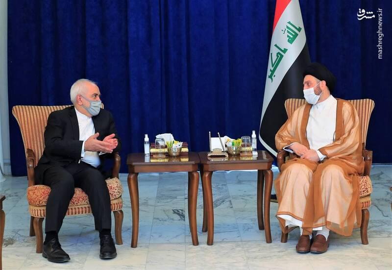 وزیر امور خارجه ایران با سیدعمار حکیم، رهبر جریان حکمت ملی عراق دیدار کرد.