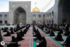 عکس/ جزء خوانی قرآن کریم در حرم مطهر رضوی