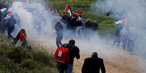استفاده اسرایئلیها از پهپاد علیه تظاهراتکنندگان فلسطینی +عکس