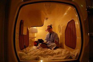 استراحتگاه ارزان برای ژاپنیها در هتل کپسولی +عکس