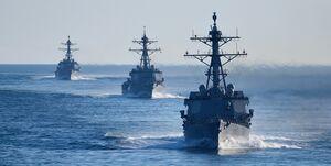 تغییر تمرکز نیروی دریایی آمریکا به سمت مقابله با چین و روسیه