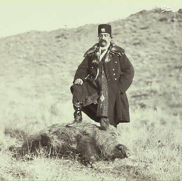 ناصرالدین شاه و گراز+ عکس