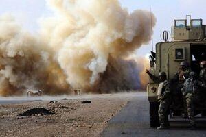 انفجار بمب در مسیر ۲ کاروان لجستیک آمریکا در عراق