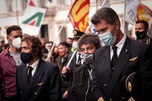 عکس/ اعتراض کارگران و کارمندان خطوط هوایی ایتالیا