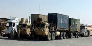 قاچاق ۴۲ کامیون غلات از سوریه توسط نظامیان آمریکا