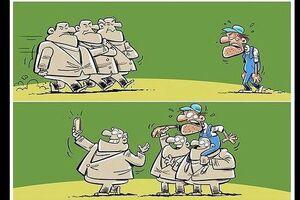 کاریکاتور/ روز سلفی گرفتن با کارگران رسید!