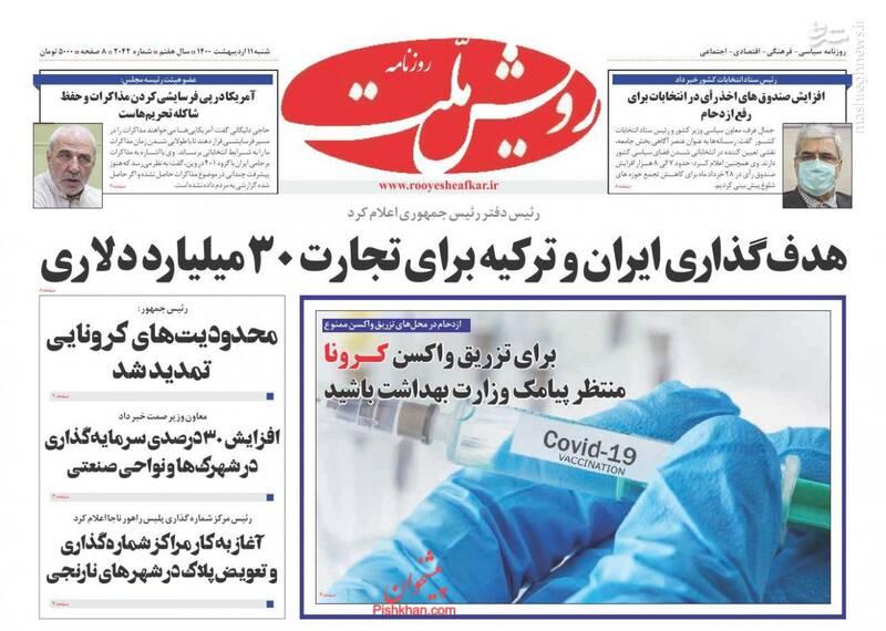 رویش ملت: هدفگذاری ایران و ترکیه برای تجارت 30 میلیارد دلاری