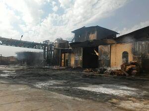 فیلم/ جزئیات آتشسوزی در شهرک صنعتی قزوین