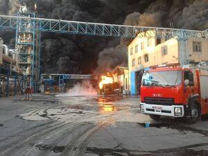 فیلم/ انفجار و آتشسوزی در واحد تولیدی شوینده قزوین