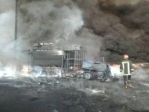 فیلم/ ماشینهای سوخته در آتشسوزی قم
