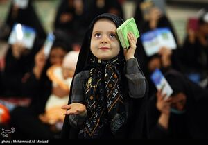 عکس/ حال و هوای کودکانه در مراسم شب قدر