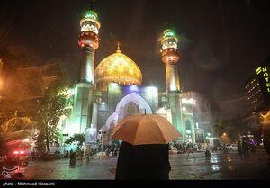 حال دلهای بارانی زیر بارش رحمت الهی در شب قدر