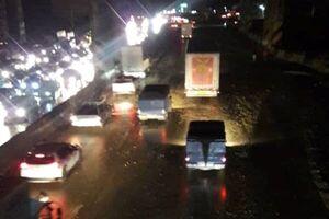 سیلاب در جاده قدیم تهران - بومهن