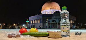 عکس/ سحرهای ماه مبارک رمضان در کنار مسجدالاقصی