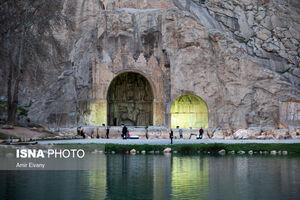 """عکس/ محوطه تاریخی """"طاق بستان"""""""