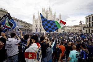 عکس/ جشن خیابانی در میلان پس از قهرمانی اینتر