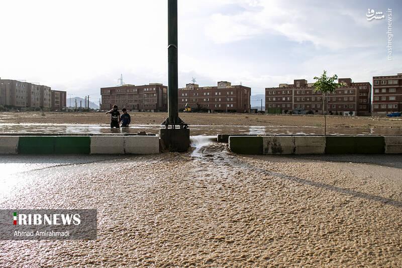 آب گرفتگی در معابر سمنان +عکس