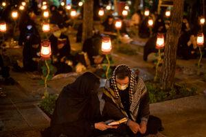 عکس/ احیای شب بیست و یکم ماه رمضان در بهشت زهرا(س)