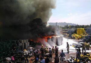 آتشسوزی گسترده در بارانداز کالا در مشیریه +عکس