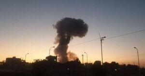 انفجار در منطقه بارگیری پشتیبانی آمریکا در مرز عراق و کویت