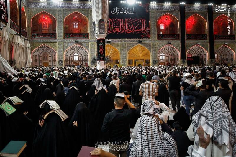 حال و هوای حرم مطهر امیر المومنین(ع) در شب شهادت+ تصاویر