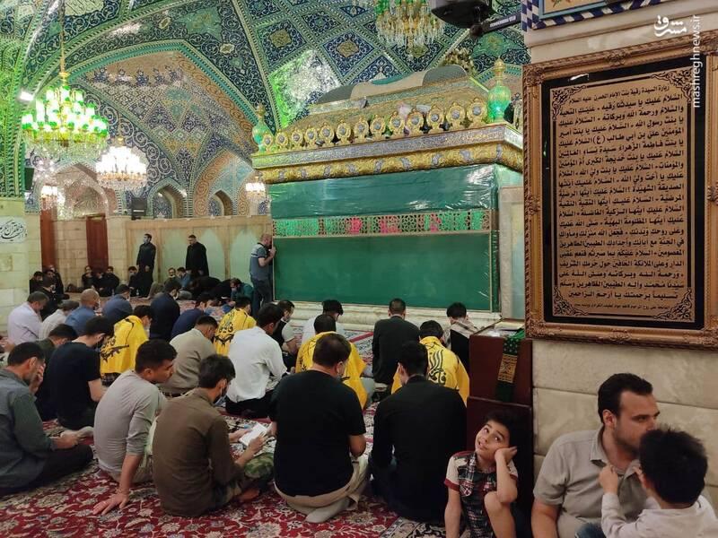 شب قدر رزمندگان فاطمیون در بارگاه حضرت رقیه(س) +تصاویر