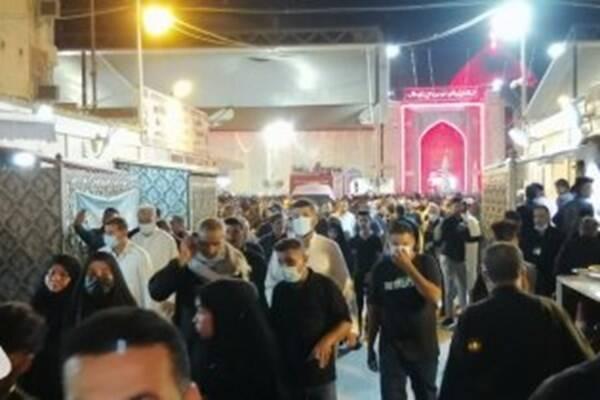 تشرف هزاران زائر به حرم امیرالمومنین(ع) +عکس