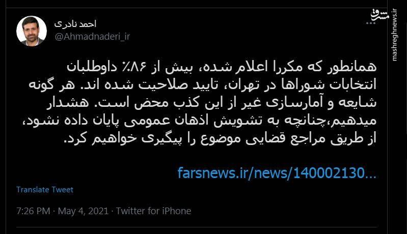 بیش از ۸۶ درصد داوطلبان انتخابات شوراها در تهران، تایید صلاحیت شده اند