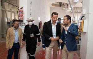 عکس/ بازدید بشار اسد از شهرک صنعتی در حمص