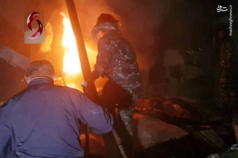 فیلم/ حمله رژیم صهیونیستی به لاذقیه سوریه
