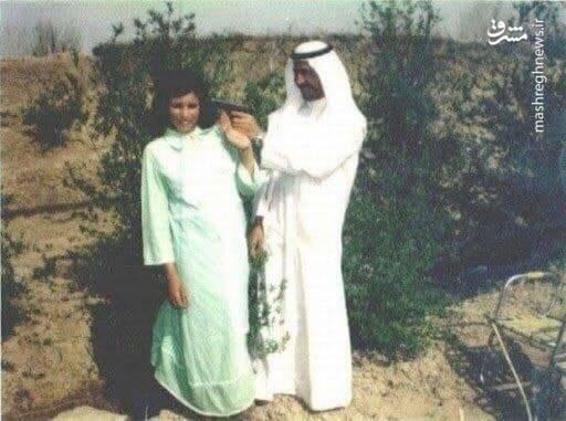 شوخی عجیب صدام با زنش+ عکس