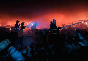 وقوع آتشسوزی بزرگ در مرکز بغداد
