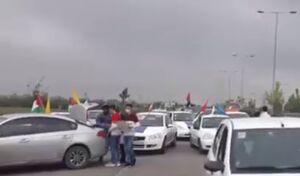 فیلم/ راهپیمایی خودجوش خودرویی در بابل