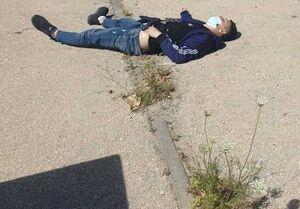 تصویری از پیکر دو شهید فلسطینی در کرانه باختری