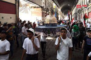 عکس/  تظاهرات روز قدس در دمشق