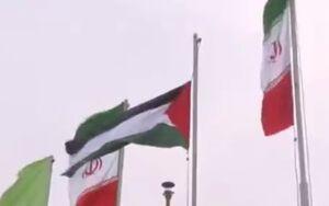 فیلم/ اهتزاز پرچم فلسطین در گنبد کاووس