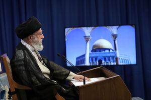 عکس/ سخنرانی رهبر انقلاب به مناسبت روز قدس