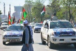عکس/ کاروان خودرویی جوانان کابل در روز قدس