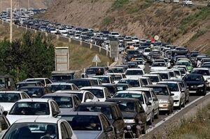 ترافیک در جاده چالوس سنگین است