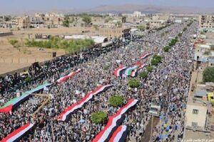 فیلم/ تظاهرات بزرگ مردم یمن در حمایت از فلسطین