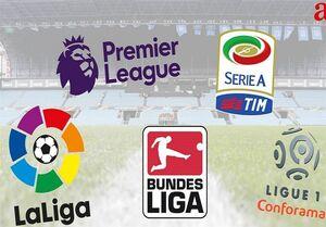 احتمال ۱۸ تیمی شده ۴ لیگ اروپایی