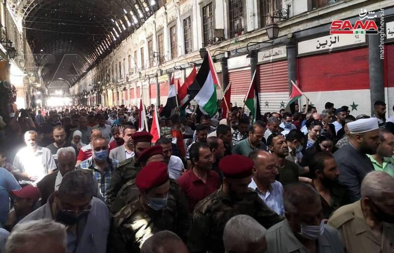 تظاهرات روز قدس در دمشق