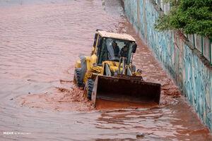 عکس/ وضعیت عجیب معابر تبریز بعد از بارندگی