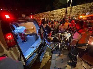 عکس/ مجروحان فلسطینی درگیریهای شب گذشته