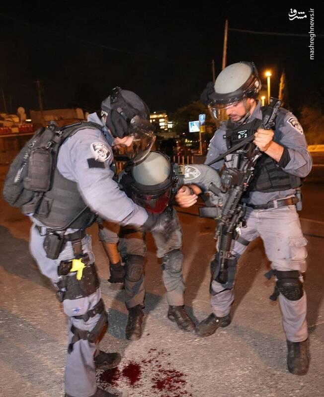 ضربه شصت جوانان فلسطینی به سربازان صهیونیست+ تصاویر