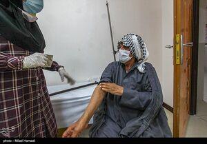 عکس/ واکسیناسیون گروه سنی بالای۷۵ سال در اهواز