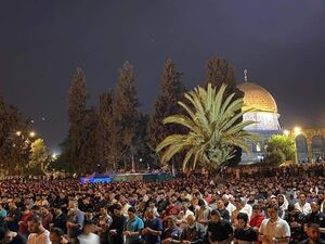 فیلم/ نماز صبح پیروزی در مسجد الاقصی